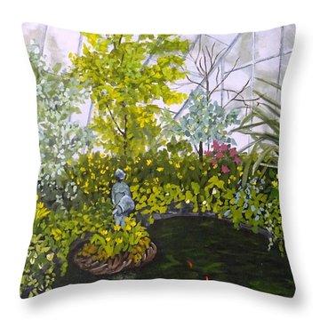 Winter At Allan Gardens Throw Pillow by Diane Arlitt