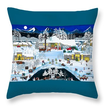 Winter At Black Butte Throw Pillow by Jennifer Lake