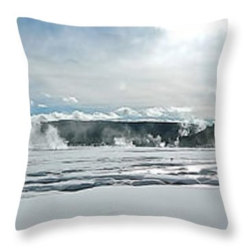 Winter At Grand Prismatic Throw Pillow