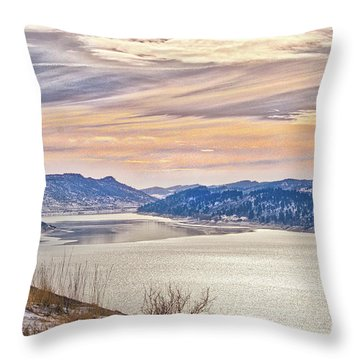 Winter At Horsetooth Reservior Throw Pillow