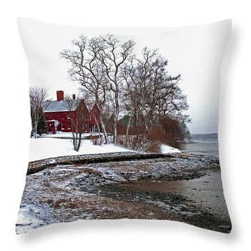 Winter At Perkins House  Throw Pillow