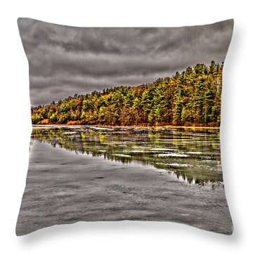 Throw Pillow featuring the photograph Winter At Pine Lake by William Norton