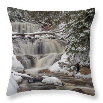 Winter At Sable Falls Throw Pillow