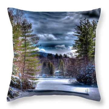 Throw Pillow featuring the photograph Winter At The Boathouse by David Patterson