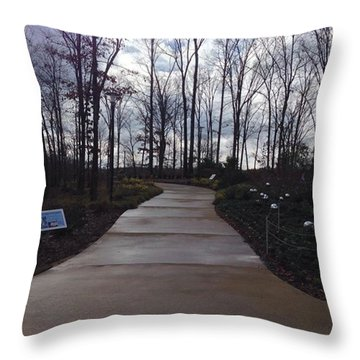 Winter At The Gardens Throw Pillow