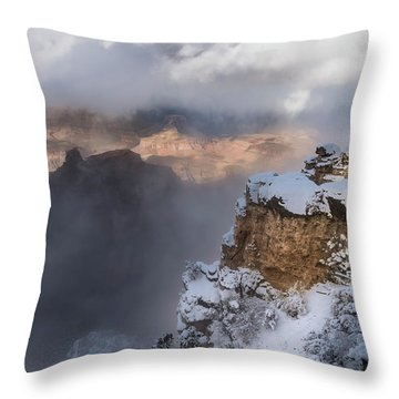 Throw Pillow featuring the photograph Winter At The Grand  Canyon by Sandra Bronstein
