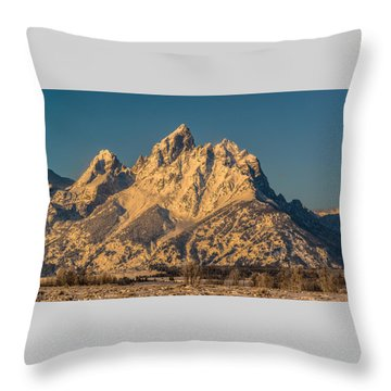 Winter At The Grand Throw Pillow