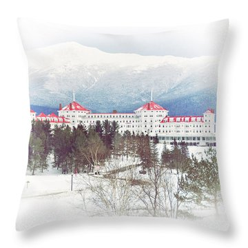 Winter At The Mt Washington Hotel 2 Throw Pillow