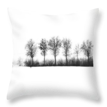 Winter Bareness Throw Pillow by Silvia Ganora