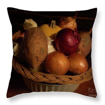Winter Basket Throw Pillow