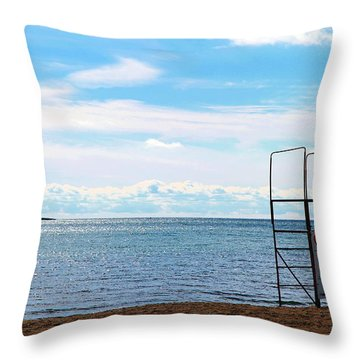Throw Pillow featuring the photograph Winter Beach by Valentino Visentini