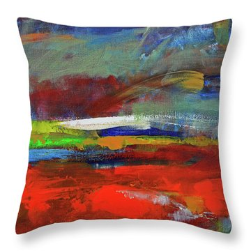 Throw Pillow featuring the painting Winter Beginnings by Walter Fahmy