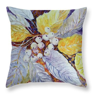 Throw Pillow featuring the painting Winter Berries by Joanne Smoley