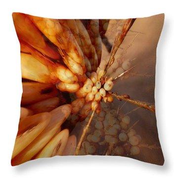 Winter Berries Throw Pillow by Keith Elliott