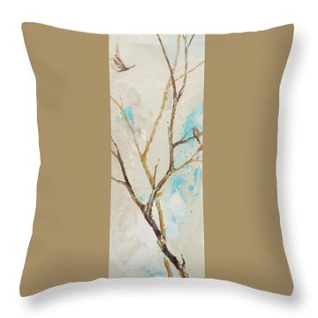 Winter Birds 2 Throw Pillow