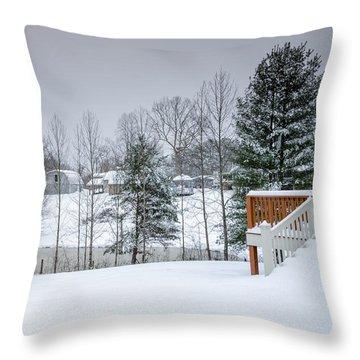 Blizzard Beauty Throw Pillow