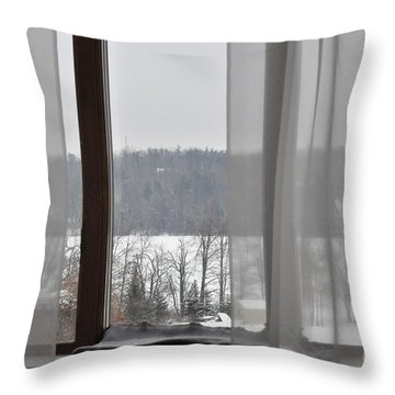 Throw Pillow featuring the photograph Winter Boredom by John Black