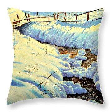 Winter Brook Throw Pillow
