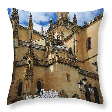 Winter Cathedral Throw Pillow