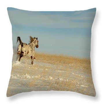 Winter Charger Throw Pillow