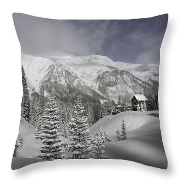 Winter Comes Softly Throw Pillow