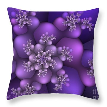 Winter Crystals Throw Pillow by Jutta Maria Pusl