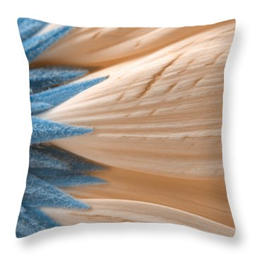 Winter Daisy Macro Throw Pillow