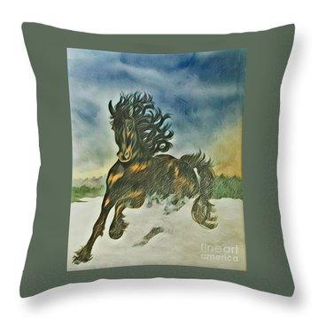 Winter Dance Throw Pillow by Diane Miller