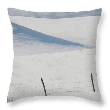 Winter Day On The Prairies Throw Pillow by Mark Duffy