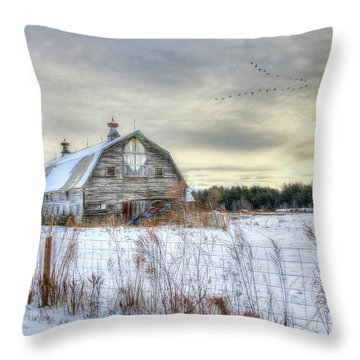 Winter Days In Vermont Throw Pillow