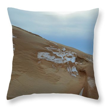 Throw Pillow featuring the photograph Winter Dune by SimplyCMB