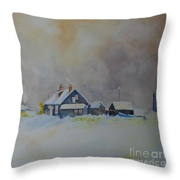 Winter Dungeness Throw Pillow