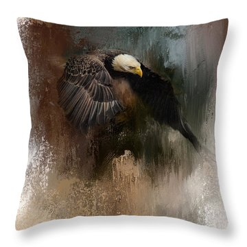 Winter Eagle 2 Throw Pillow