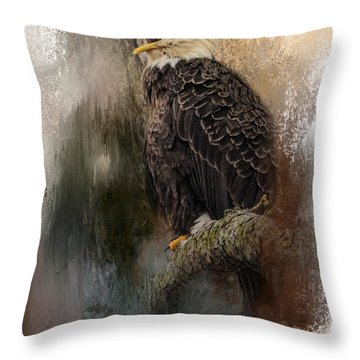 Winter Eagle 3 Throw Pillow