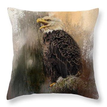Winter Eagle 3 Throw Pillow