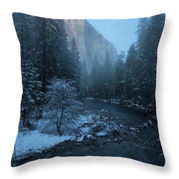 Winter El Cap  Throw Pillow