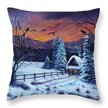 Winter Evening 2 Throw Pillow