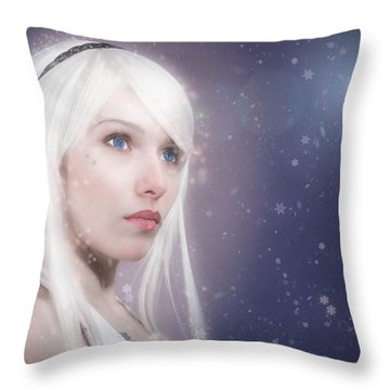 Winter Fae Throw Pillow