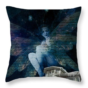 Winter Fairy Throw Pillow