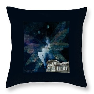 Throw Pillow featuring the digital art Winter Fairy by Delight Worthyn