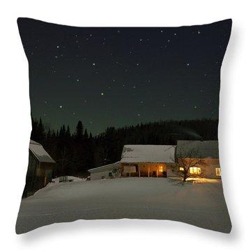 Winter Farmhouse Throw Pillow