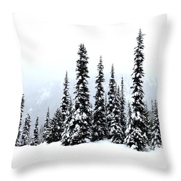 Winter Firs Throw Pillow