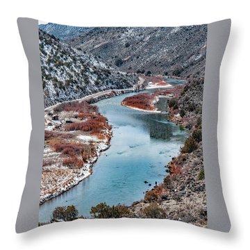 Throw Pillow featuring the photograph Winter Fisherman by Britt Runyon