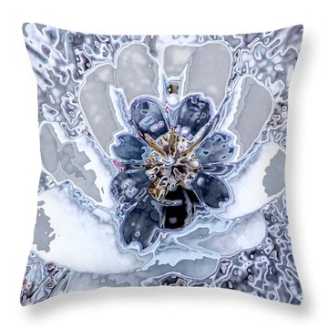 Winter Flower 2 Throw Pillow