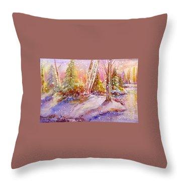 Winter Forest  Throw Pillow by Patricia Schneider Mitchell