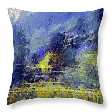 Winter Frosty Morning Throw Pillow
