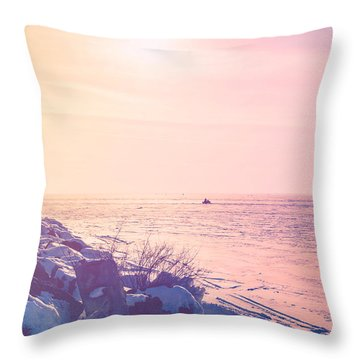 Throw Pillow featuring the photograph Winter Fun by Joel Witmeyer