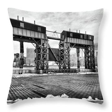 Winter Gantry Throw Pillow