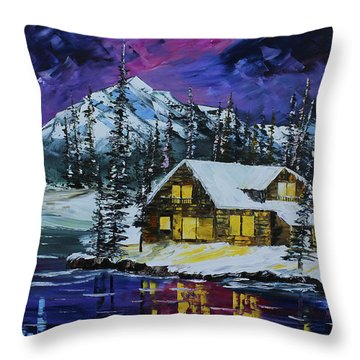Winter Getaway Throw Pillow