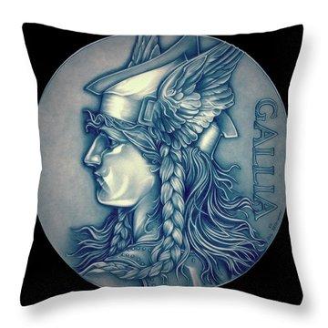 Winter Goddess Of Gaul Throw Pillow